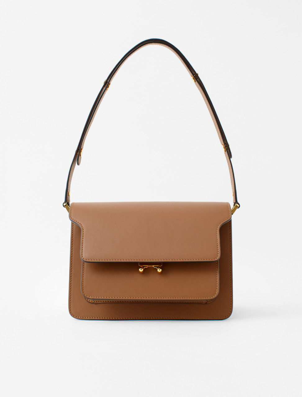 Trunk Shoulder Bag in Gold Brown