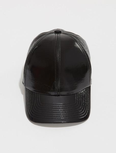 321ACT002VY0003 9999 COURRÈGES LOGO BASEBALL CAP IN NOIR