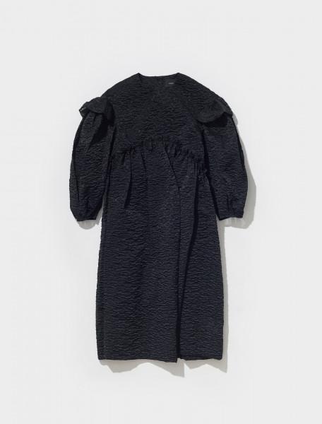 7095_0441 SIMONE ROCHA SIGNATURE SLEEVE SMOCK DRESS IN BLACK