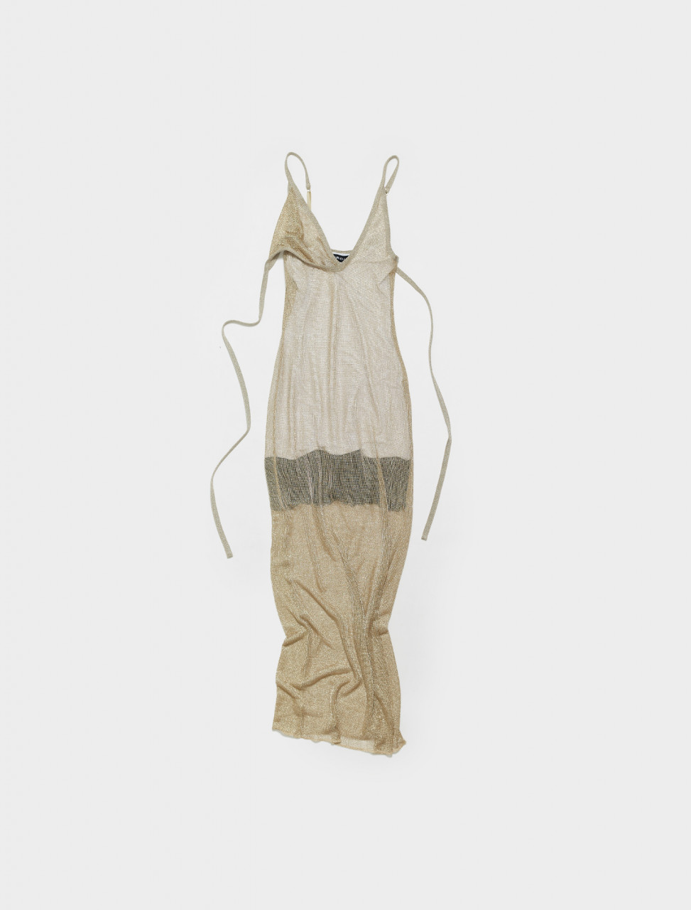 WTSDRESS45-S20 Y PROJECT SLIP PETTICOAT DRESS IN GOLD & WHITE