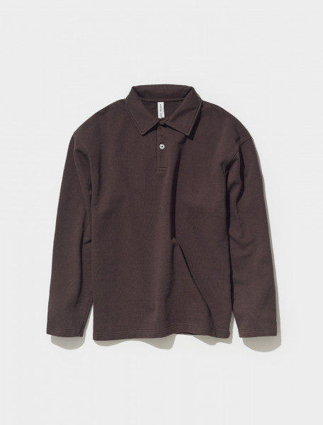 606060_250 ANOTHER ASPECT POLO SHIRT 1.0 IN ANTIQUE BROWN