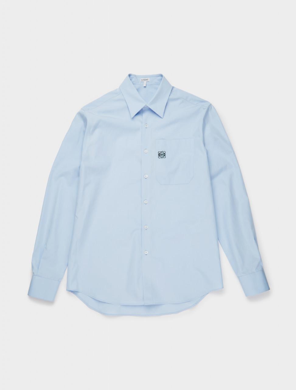 251-H526337X89 LOEWE ANAGRAM SHIRT BABY BLUE