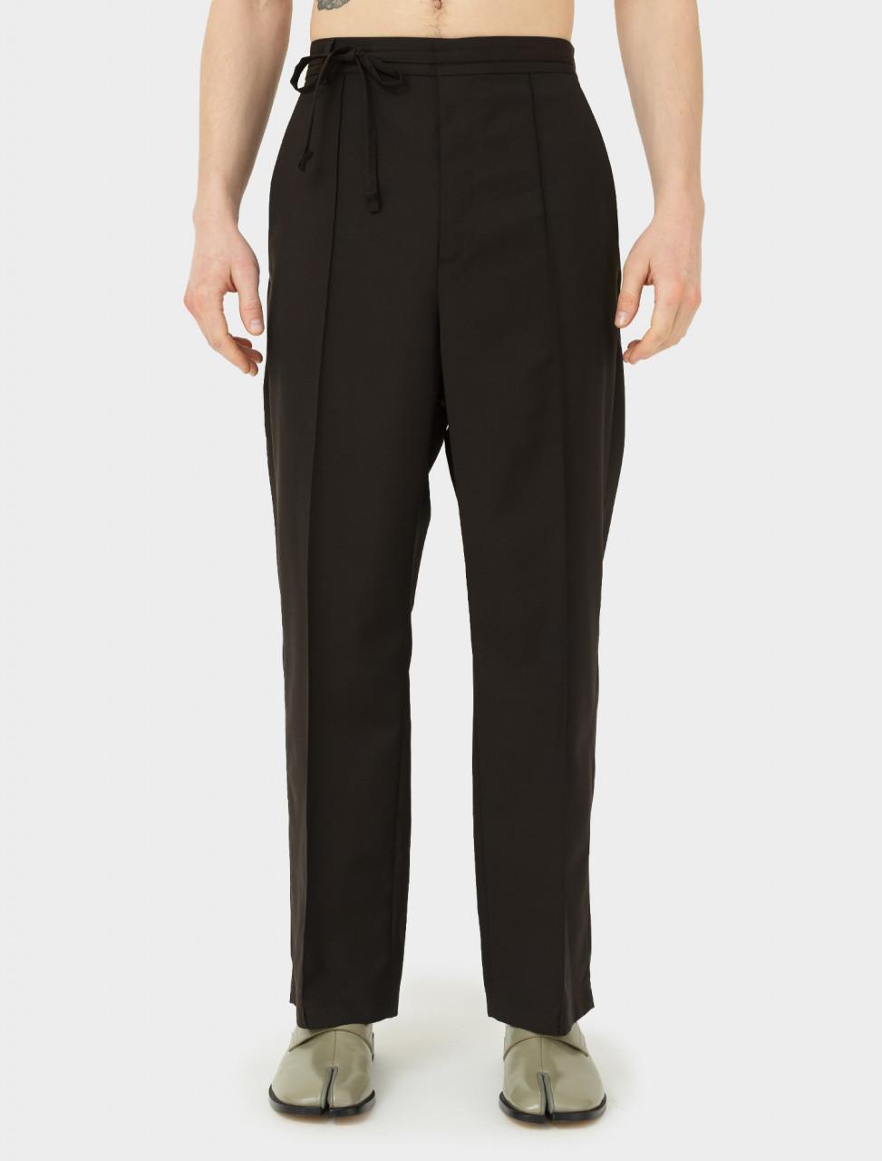 Tie Waist Trouser in Brown