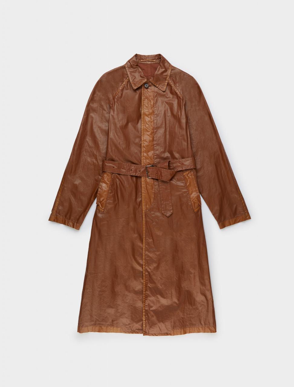 Dries van Noten Reader Raincoat in Cognac Front