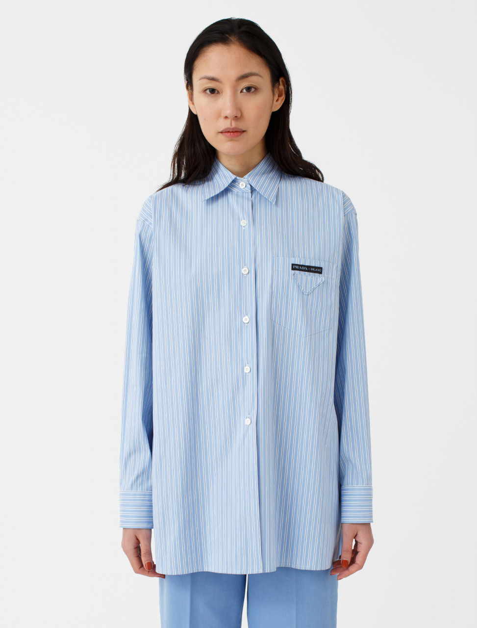 Cotton Shirt in Blue