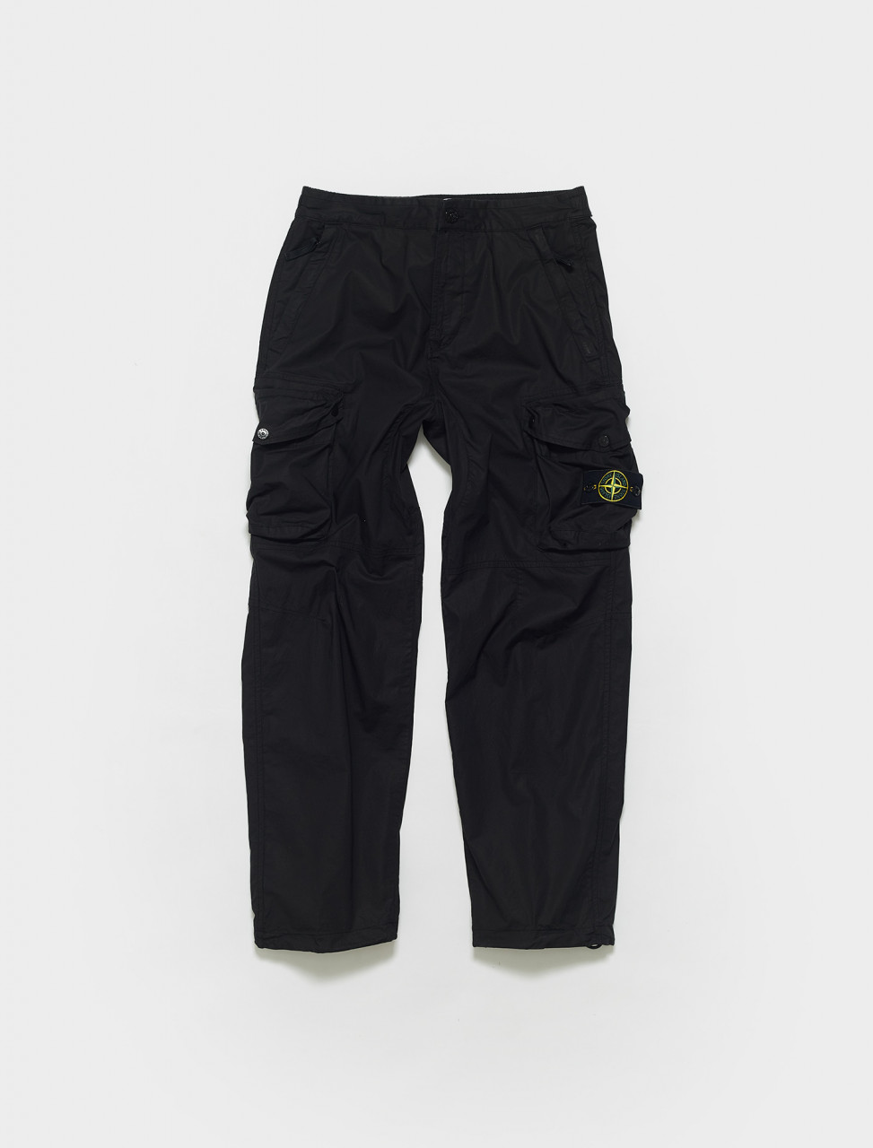 MO741530203-V0029 STONE ISLAND LIGHTWEIGHT CARGO PANTS IN BLACK