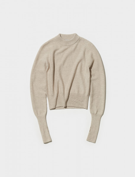 W 213 KN612 LK110 213 LEMAIRE FITTED SWEATER IN PORRIDGE