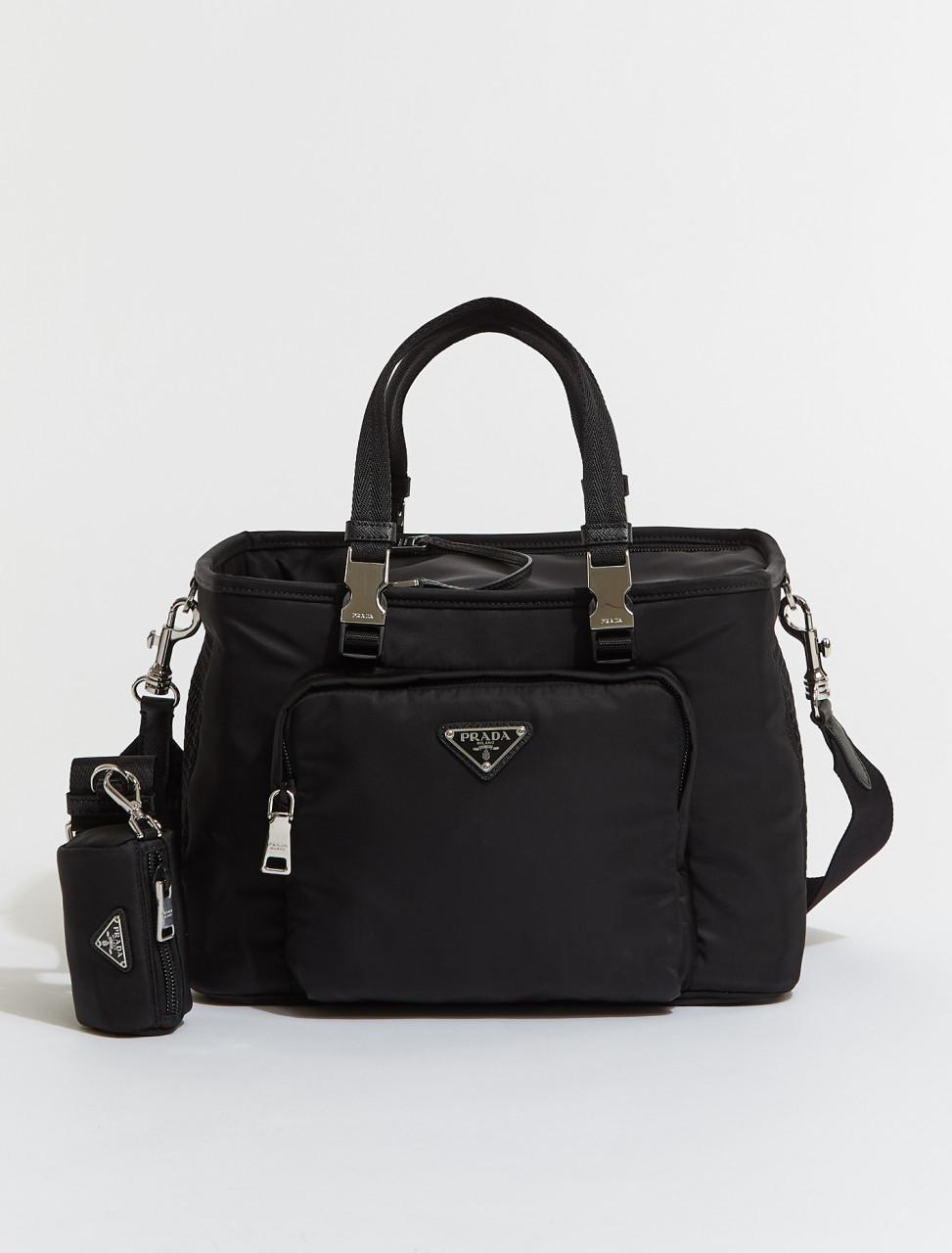 Re-Nylon and Saffiano Leather Pet Bag
