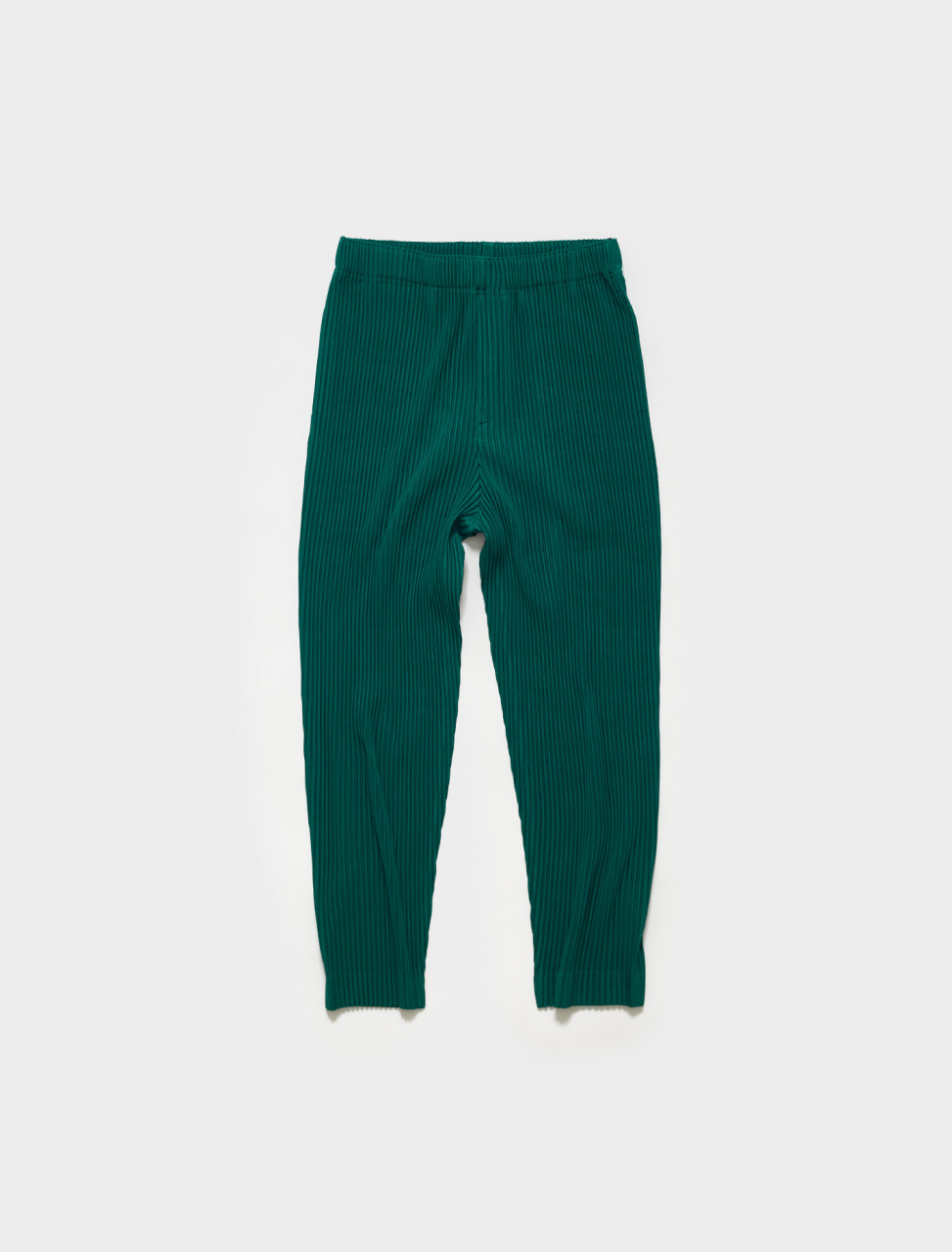HP16JF128-63 HOMME PLISSE ISSEY MIYAKE Pleated Trousers in Viridian Green