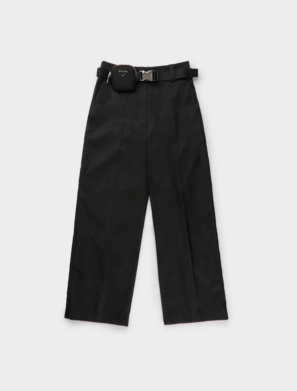 242-22H823-1WQ8-F0002-S-202 PRADA RE NYLON BELTED TROUSER BLACK
