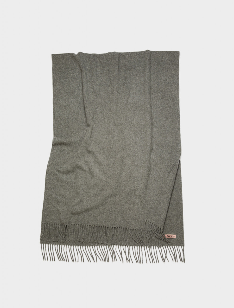 110-CA0102-990 ACNE STUDIOS Oversized Wool Scarf in Grey Melange