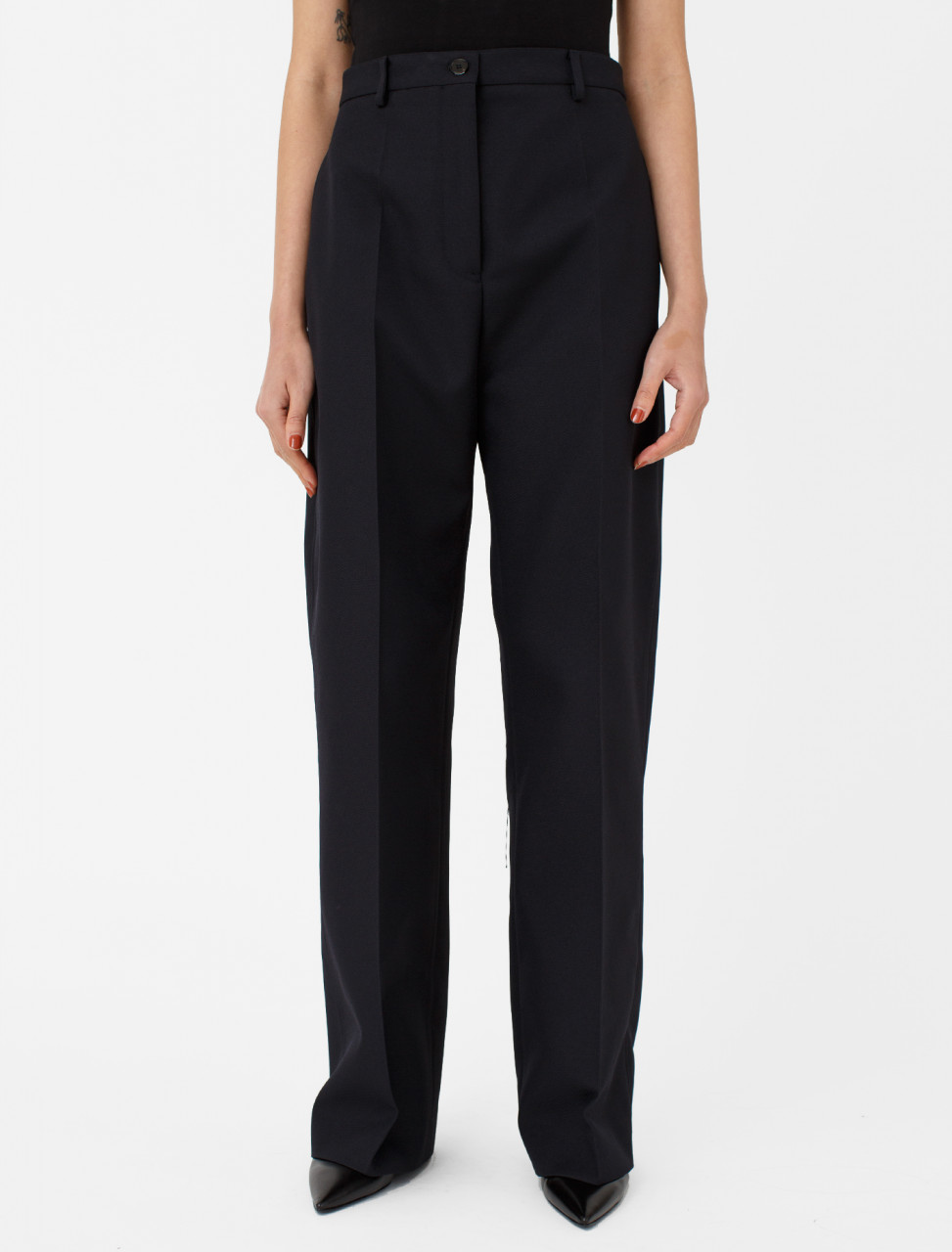 Poly Trouser in Dark Blue