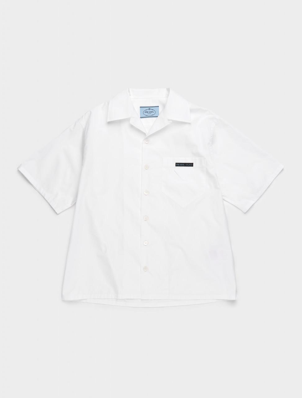 UCS339-F0009 PRADA CAMICIA SHIRT WHITEUCS339-F0009 PRADA CAMICIA SHIRT WHITE