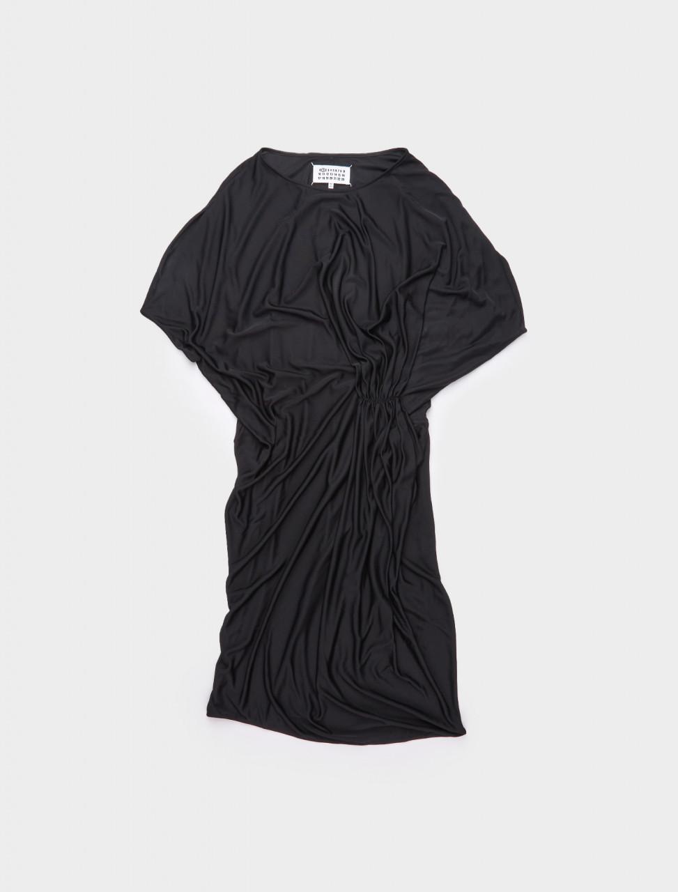 S51CU0255MAISON MARGIELA SILK DRESS PS21 BLACK