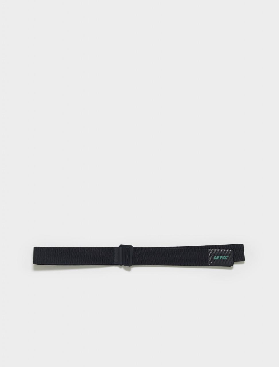 SS21AC03-Black AFFIX G HOOK LOGO BELT IN BLACK