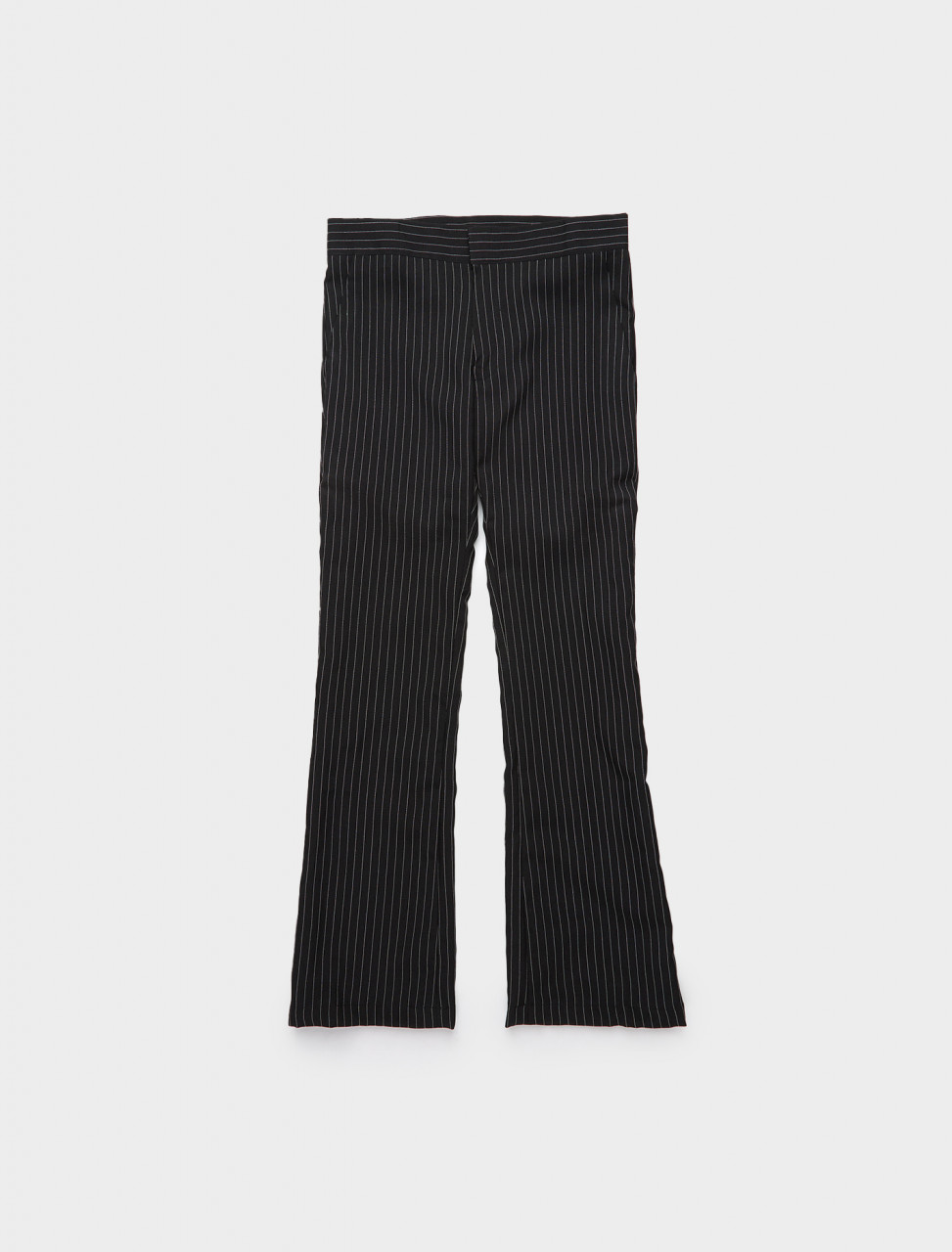 328-YOU01P008-1 YOUTHS IN BALACLAVA PIN STRIPE FORMAT TROUSERS IN BLACK