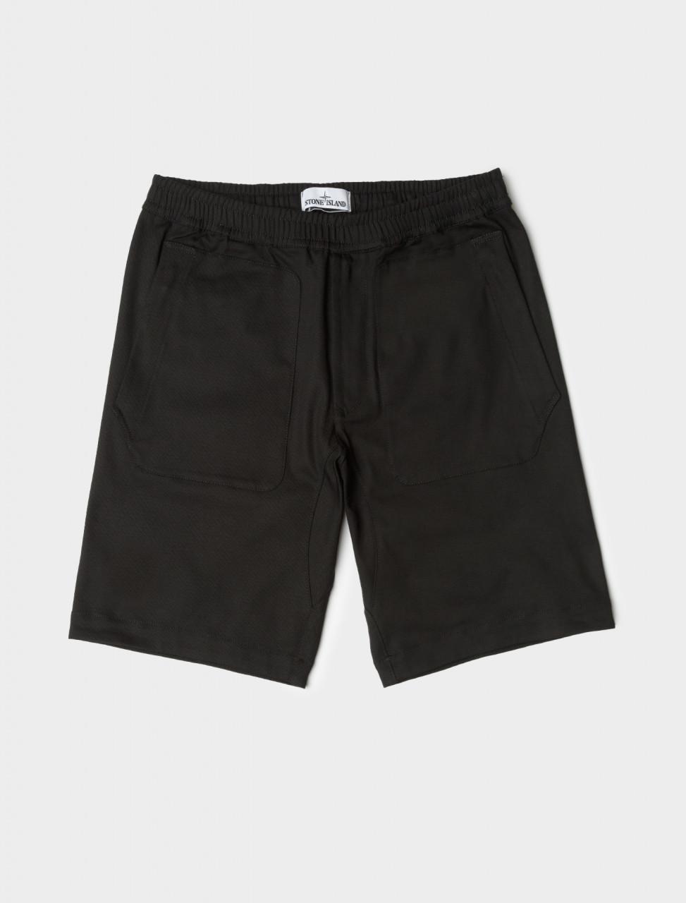 Cotton Blend Shorts in Black