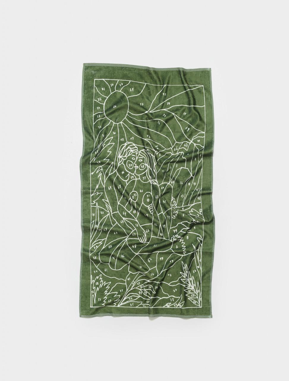 SS21AC06 CARNE BOLLENTE RAMBONE TOWEL IN PRINT