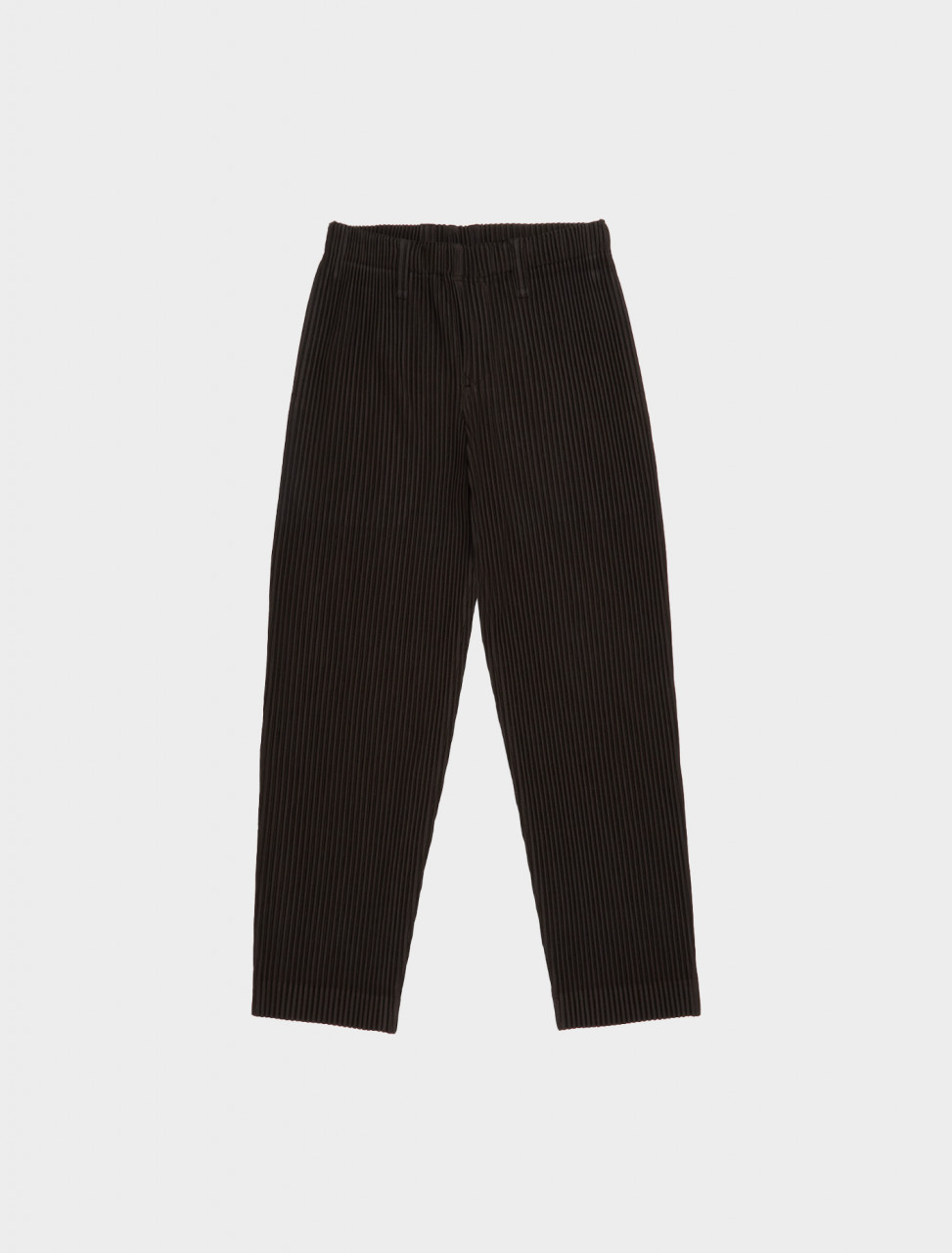 HP08JF211-45 HOMME PLISSE ISSEY MIYAKE PLEATED TROUSER CHARCOAL BROWN