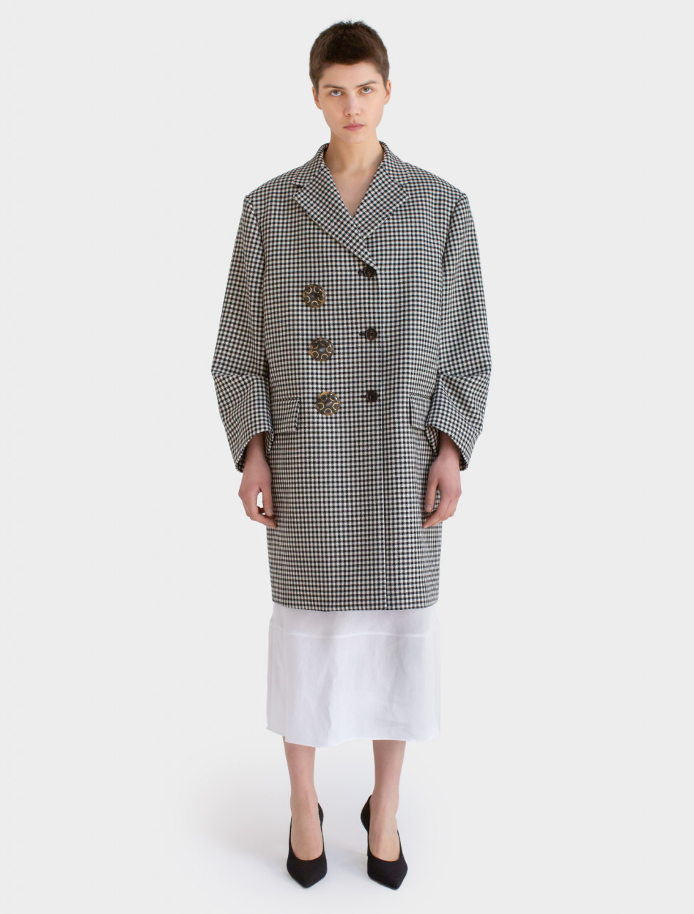 Wool Coat with Decorations