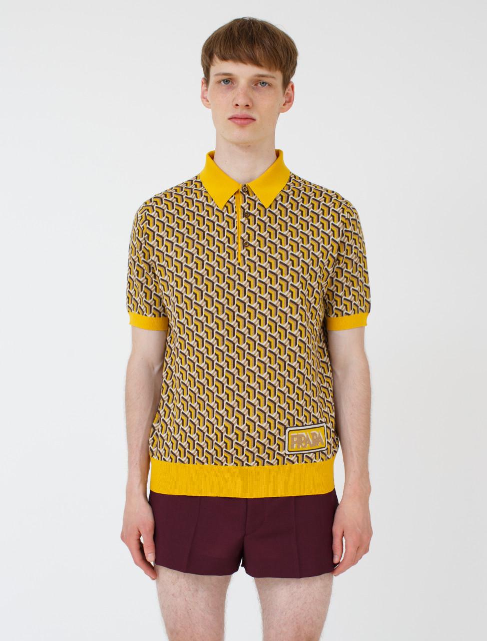 Wool Jacquard Polo Shirt