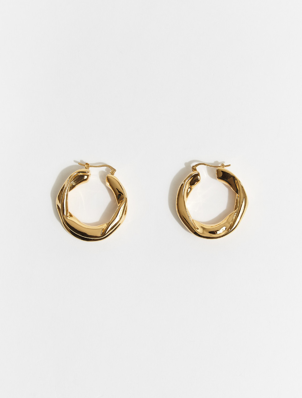 JSWS837161-WSS79009-712 JIL SANDER MELTING EARRINGS IN GOLD