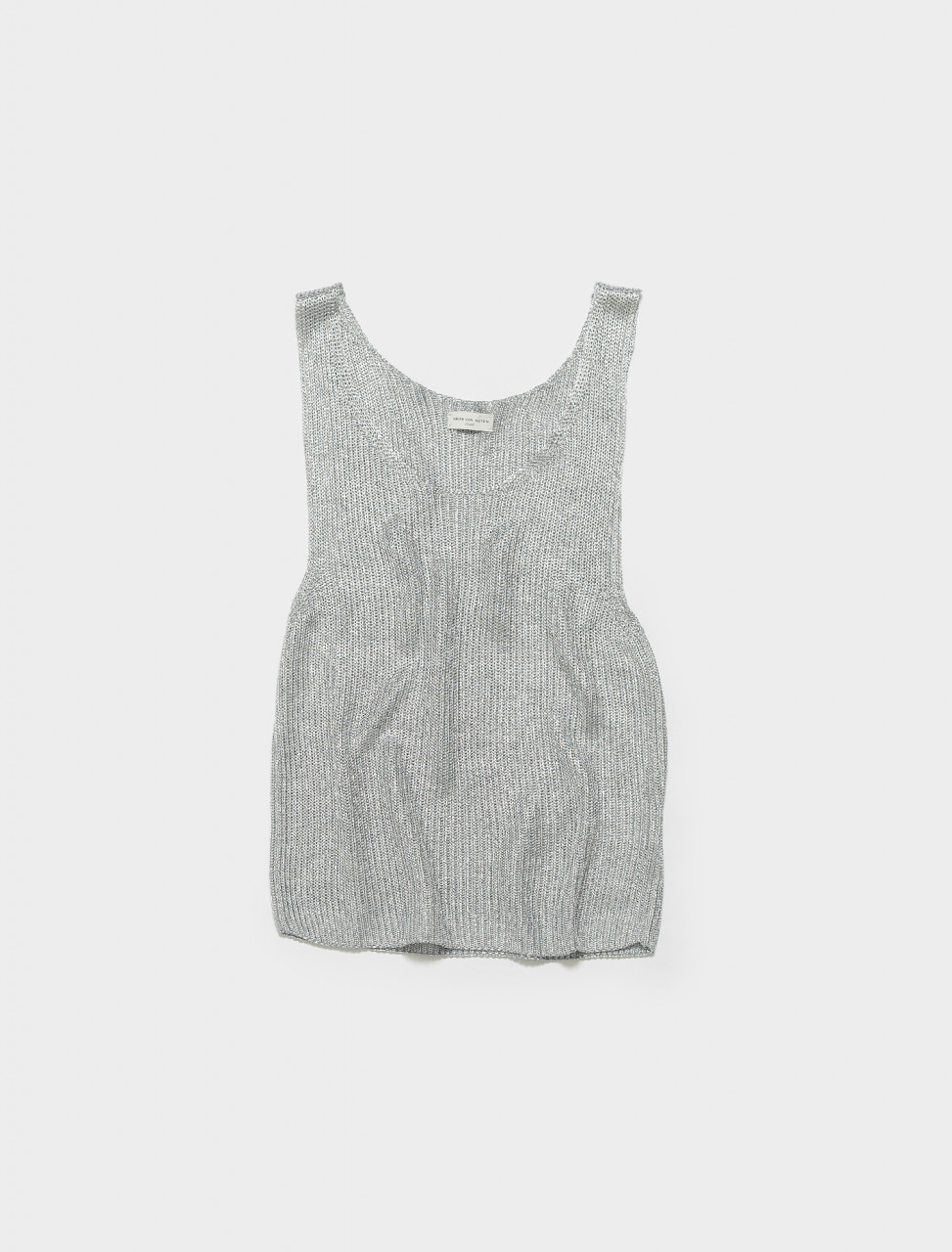 211-21222-2703-952 DRIES VAN NOTEN NATHAN TANK SILVER