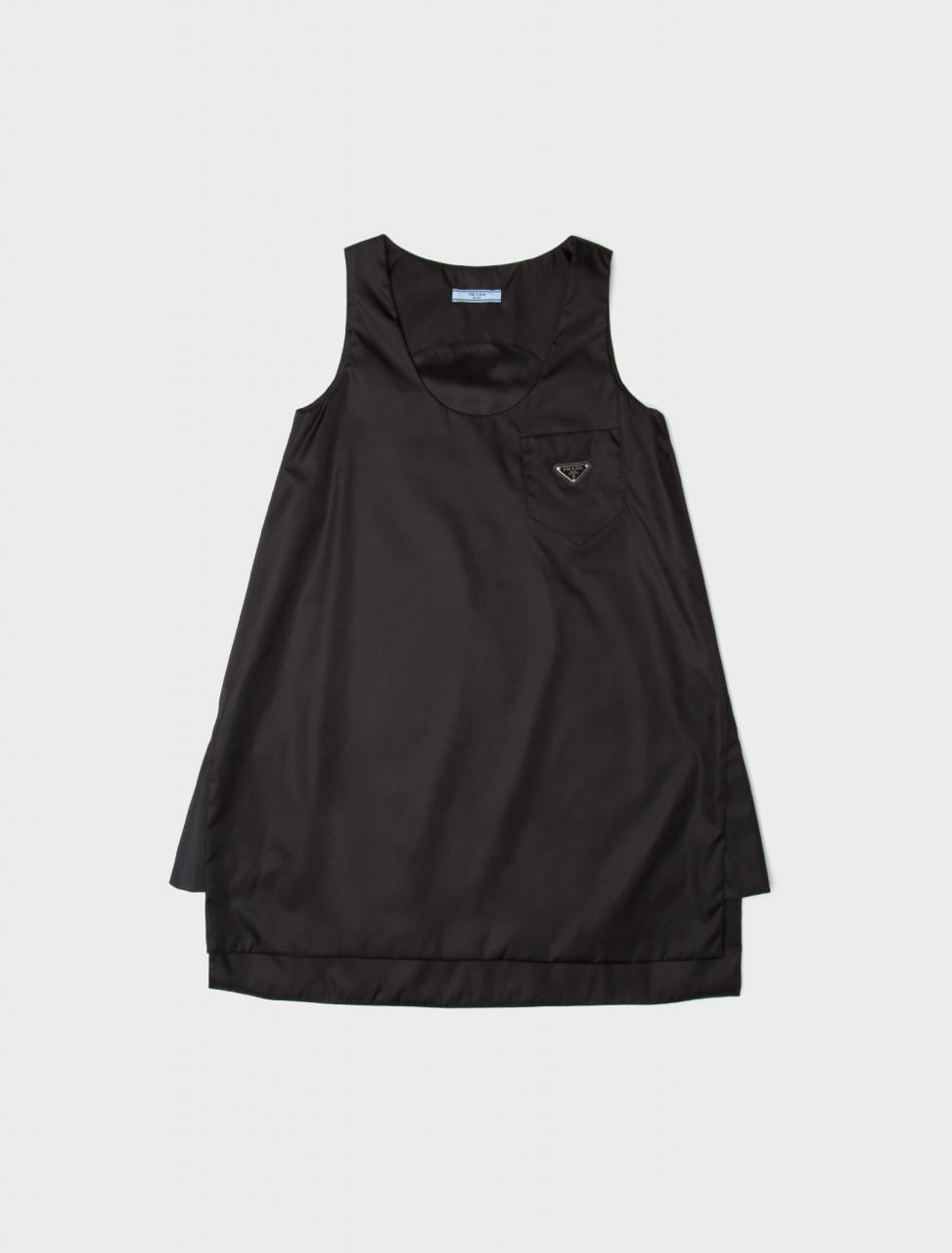 Nylon Gabardine Sleeveless Dress with Belt