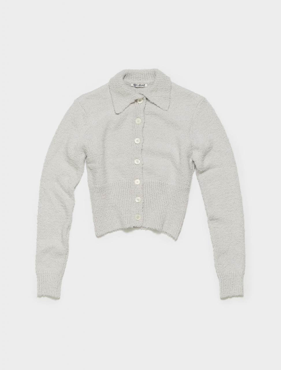 W2213PL OUR LEGACY POLO CARDIGAN IN LAVENDER CLOUDY COTTON