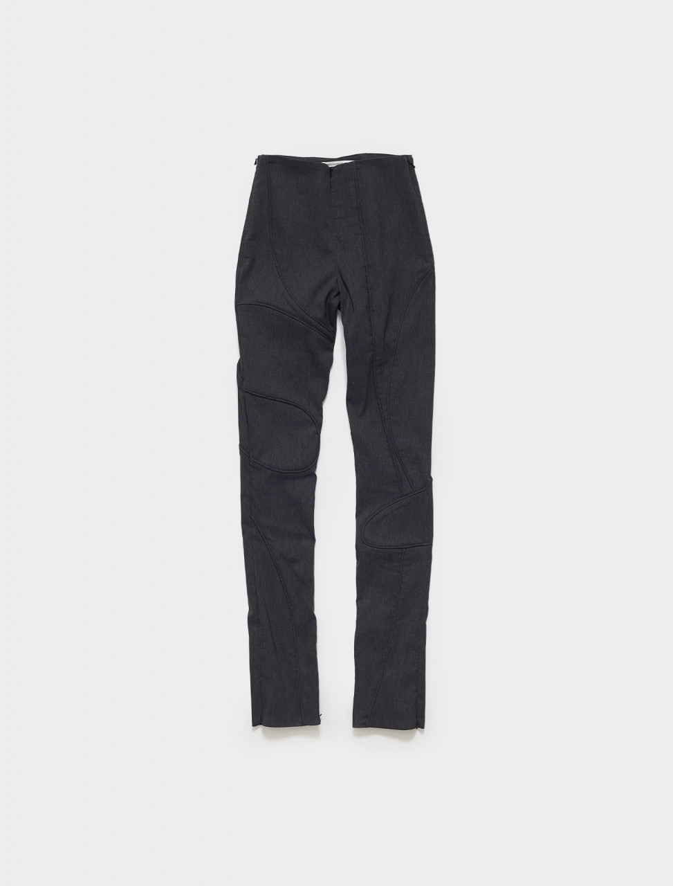 SS21Ines MAINLINE INES STRETCHY PIPING TROUSERS WITH ZIPS IN GREY