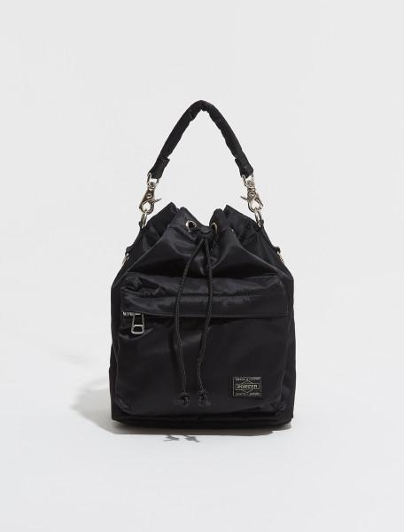 381 16879 10 PORTER YOSHIDA & CO. BALLOON SHOULDER BAG IN BLACK