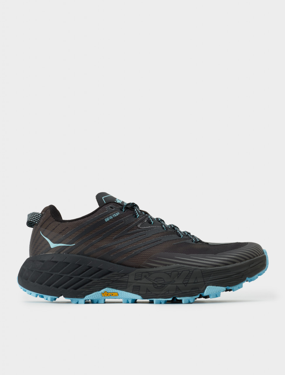 Hoka One One W SPEEDGOAT GTX Sneaker in Anthracite/Dark Gull Grey