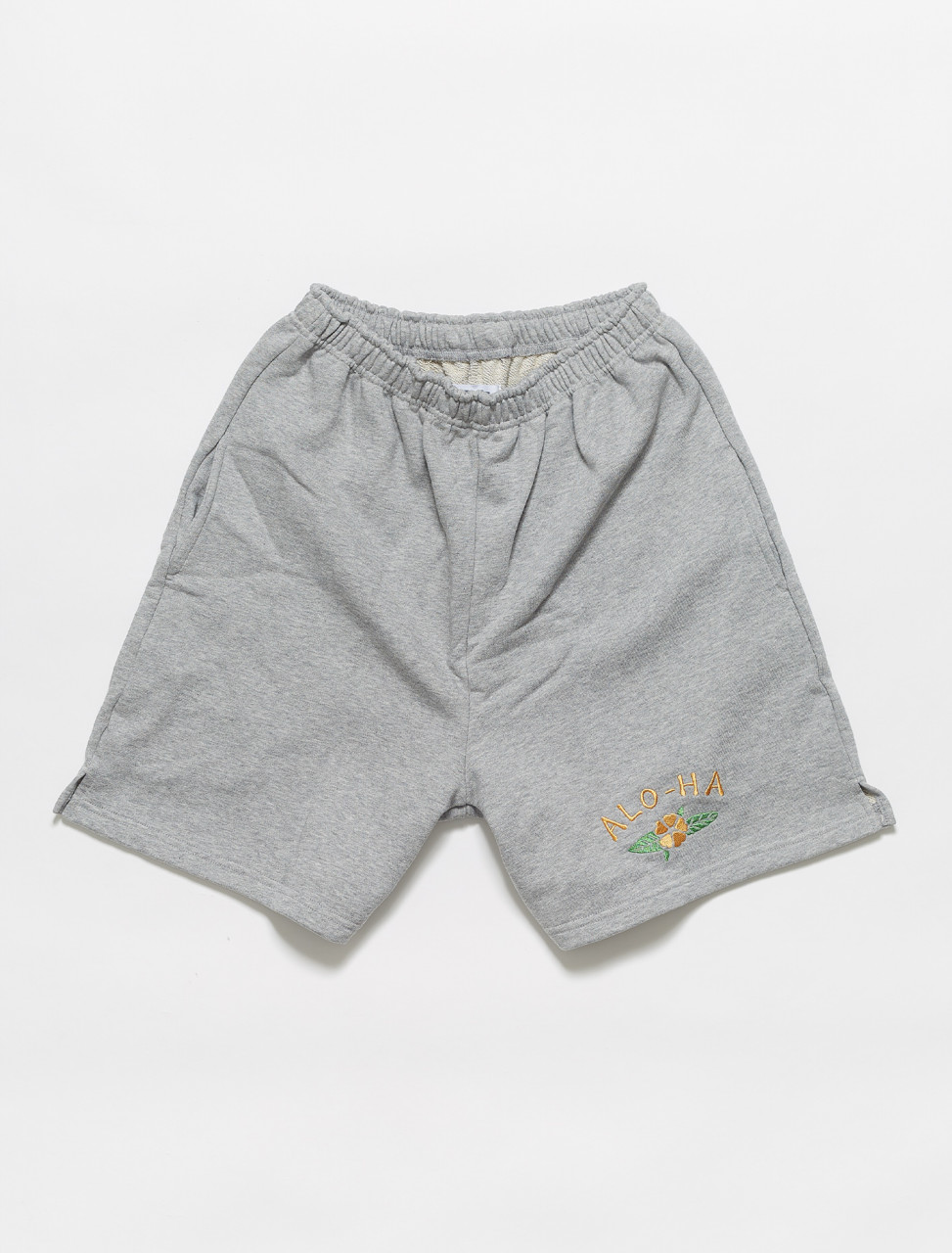 317-SSAJ-SP-17 ART OF SCRIBBLE ALOHA SHORT GREY MELANGE
