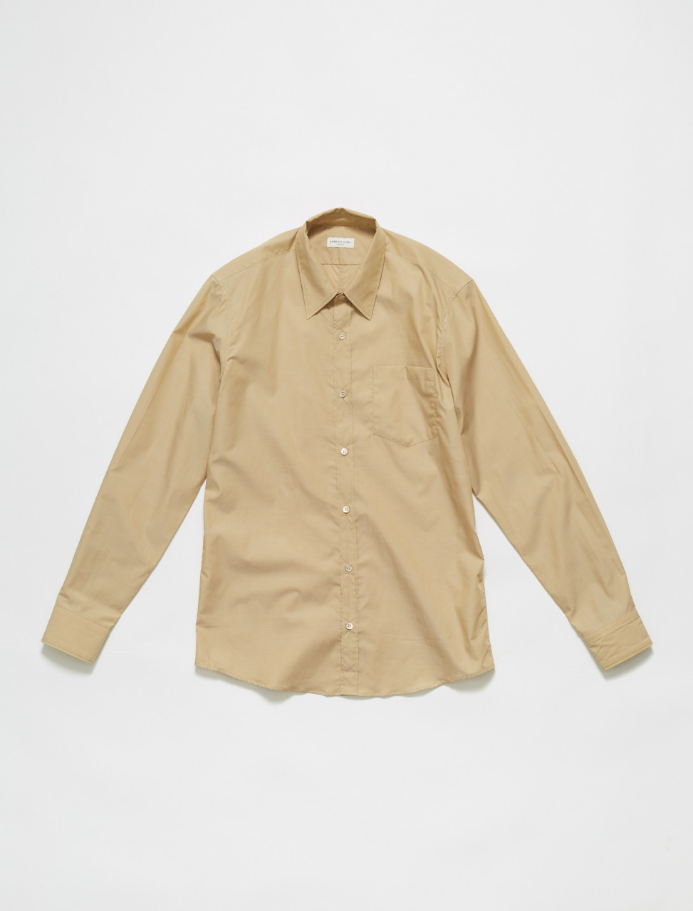 211-20746-2018-101 DRIES VAN NOTEN CORBINO LONG SLEEVE SHIRT IN SAND