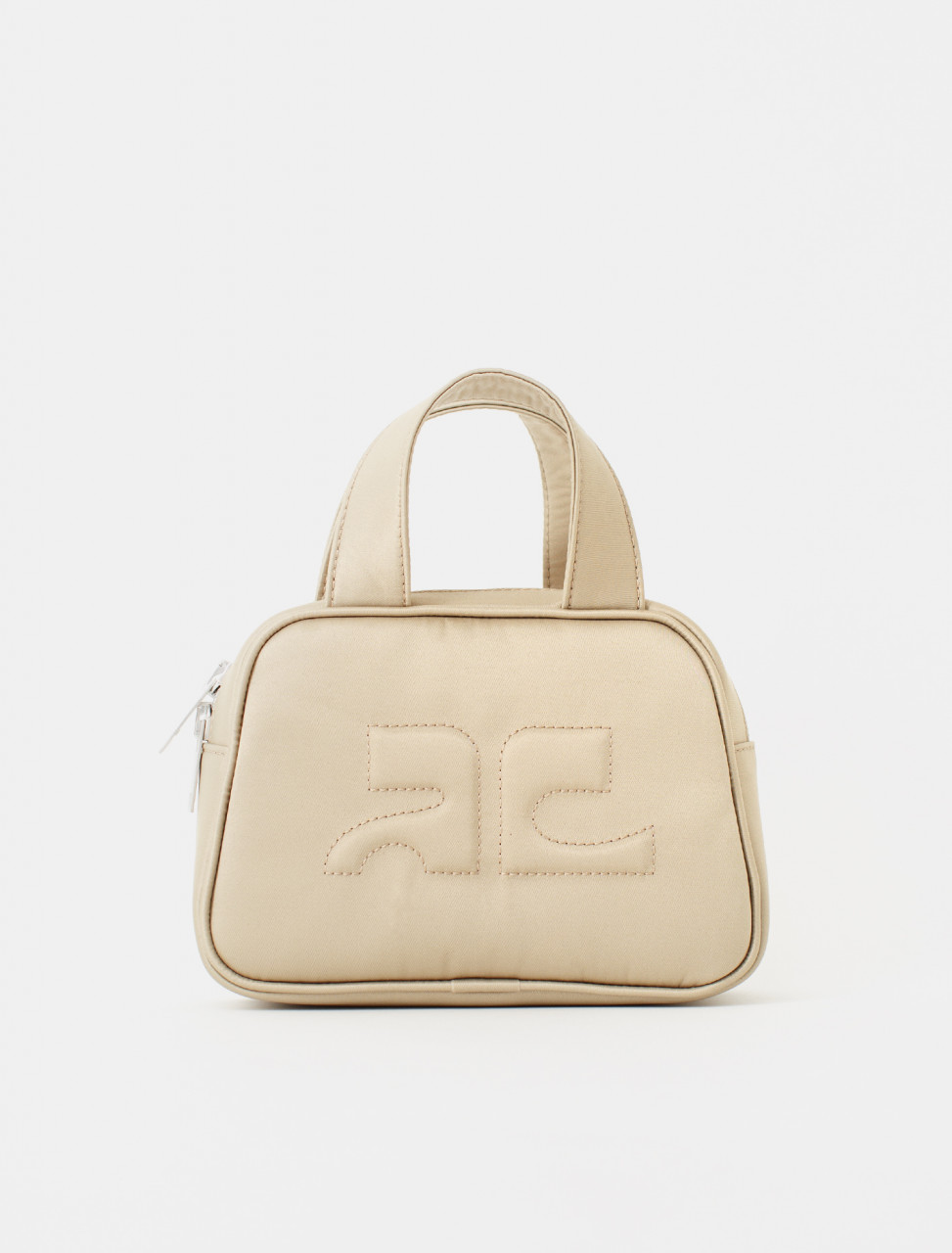 Beige Waistbag with Embossed Logo