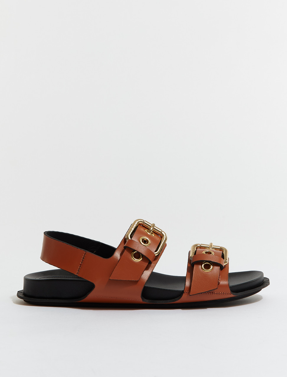 FBMS008001-Z179R MARNI SANDALS IN BROWN AND BLACK