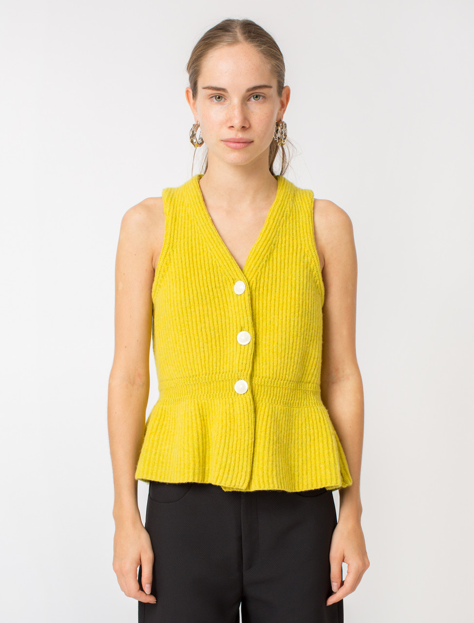 Fitted Sleeveless Cardigan