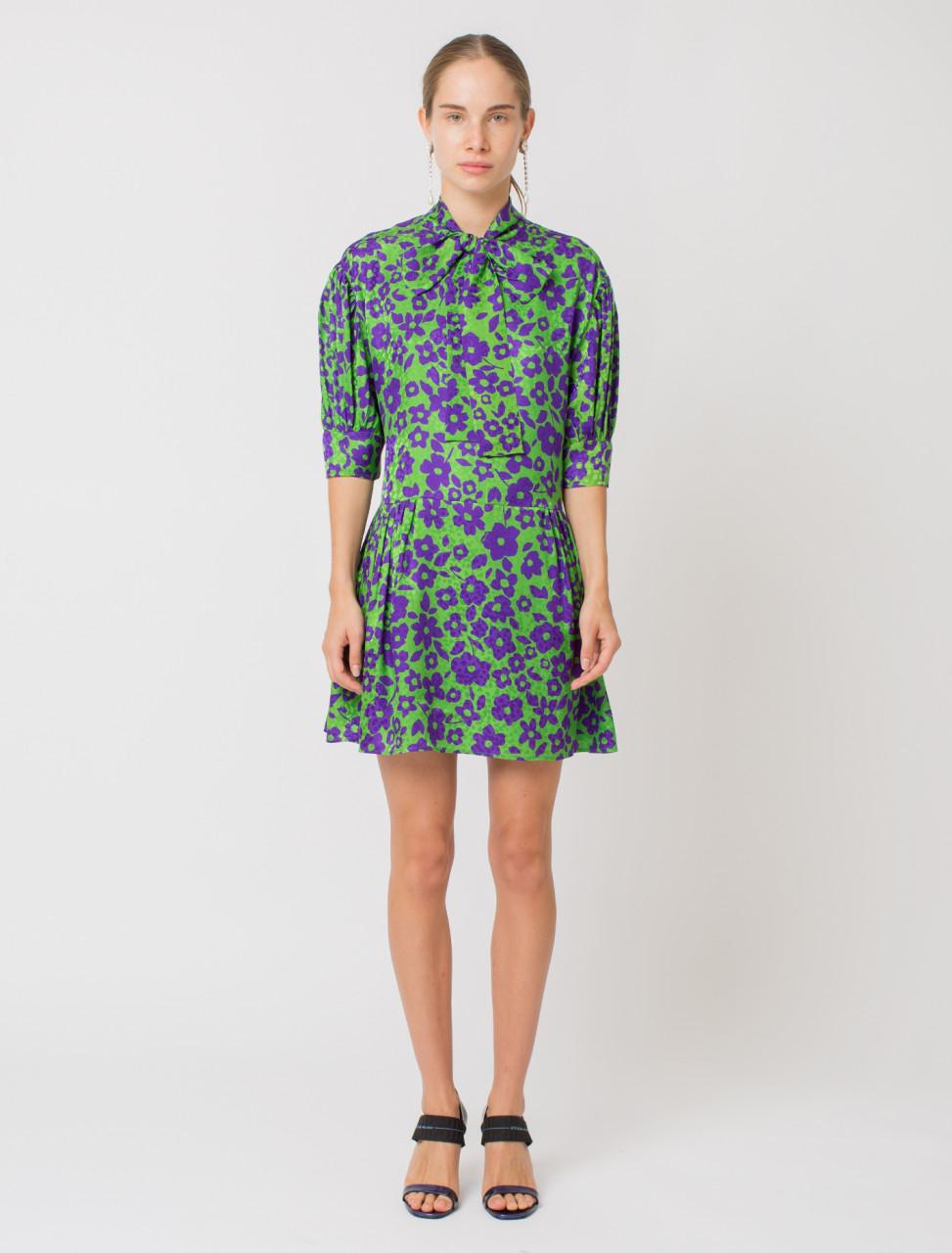 Jacquard Silk Dress