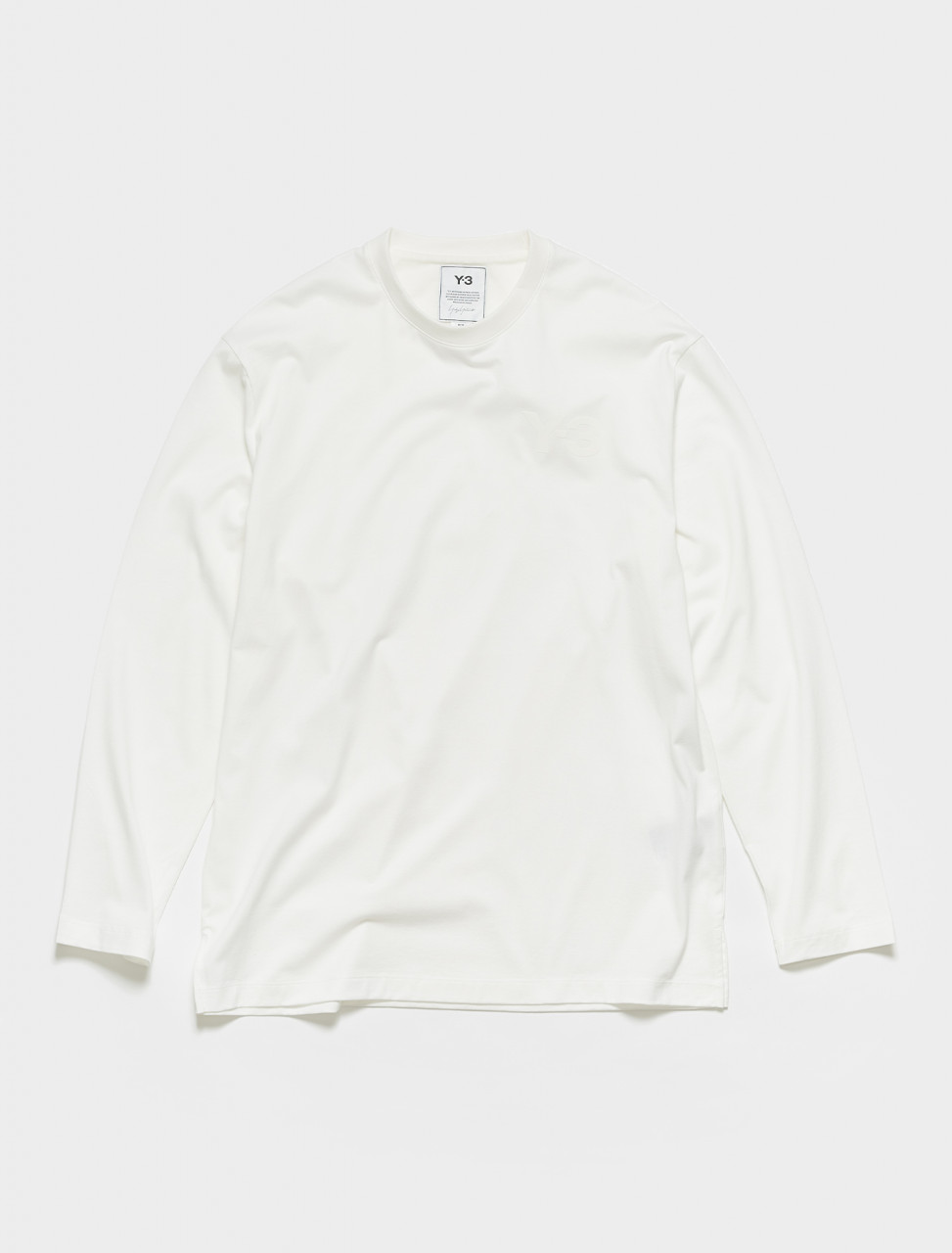 165-FN3362 Y 3 M CLASSIC CHEST LOGO LONG SLEEVE TEE WHITE