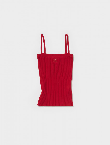 321MDE001FI0001 4034 COURRÈGES STRAPPY TANK TOP IN GROSEILLE
