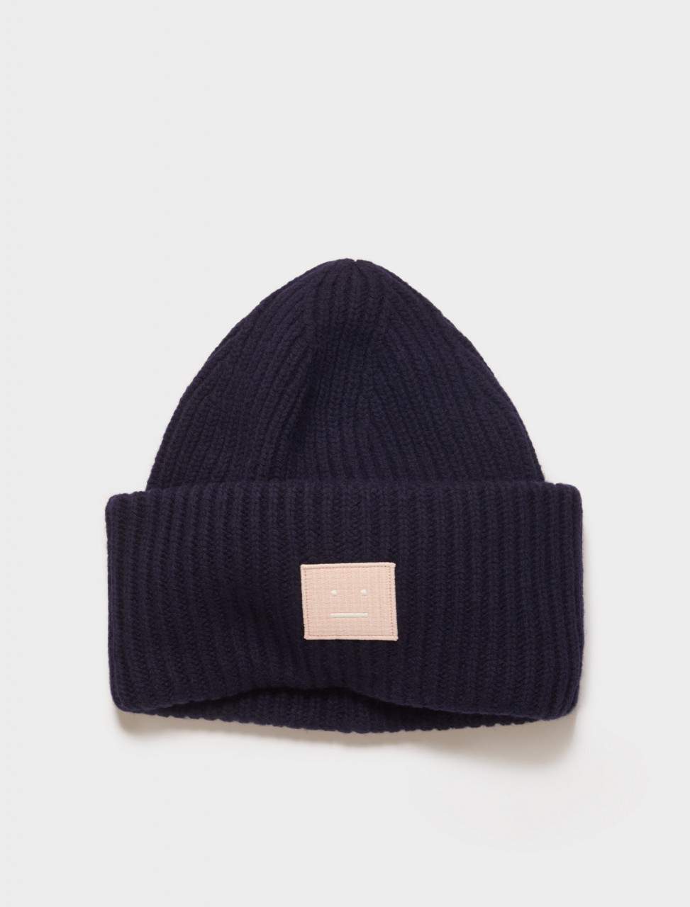 110-D40009-BSN ACNE STUDIOS PANSY N FACE BEANIE NAVY PINK
