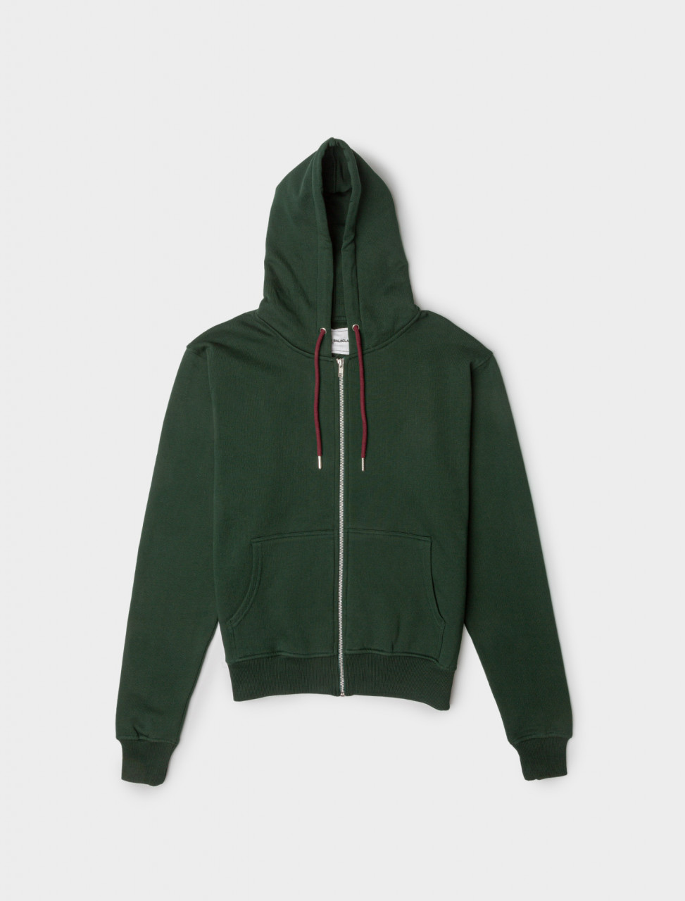 Y Hoodie with Zipper in Green