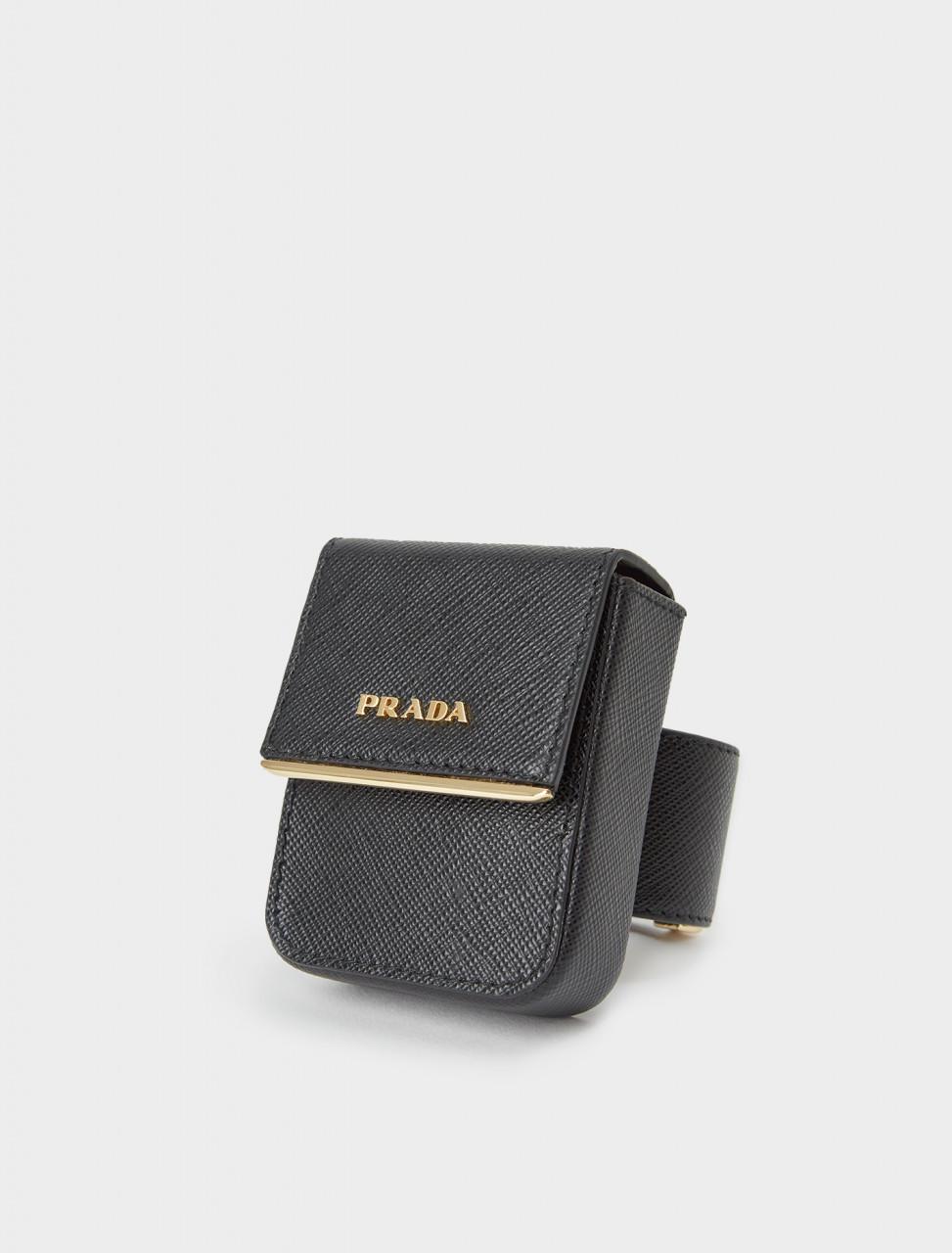 242-1IB347-2DL0-F0002 PRADA Saffiano Leather Pouch Bracelet