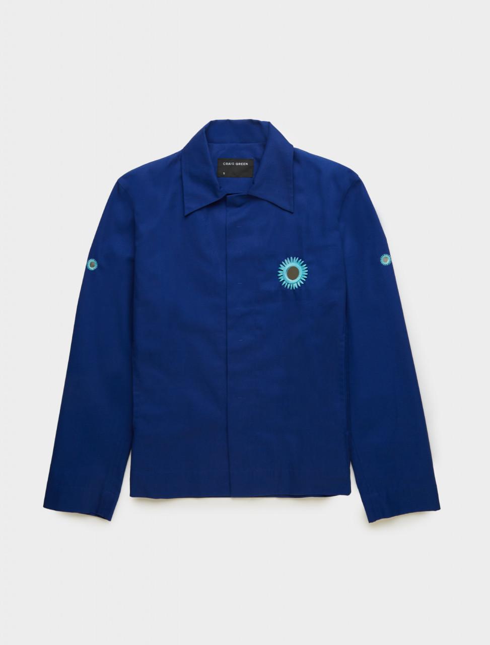 Craig Green Embroidered Mirror Jacket in Blue