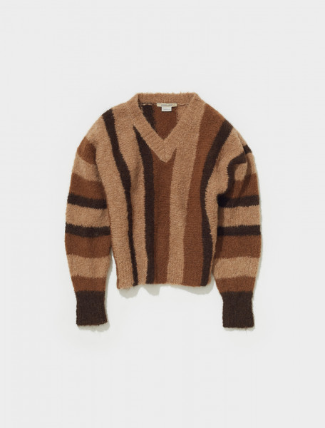 PKN023_147 PALOMA WOOL MIERCOLES STRIPED ALPACA KNIT SWEATER IN NATURAL
