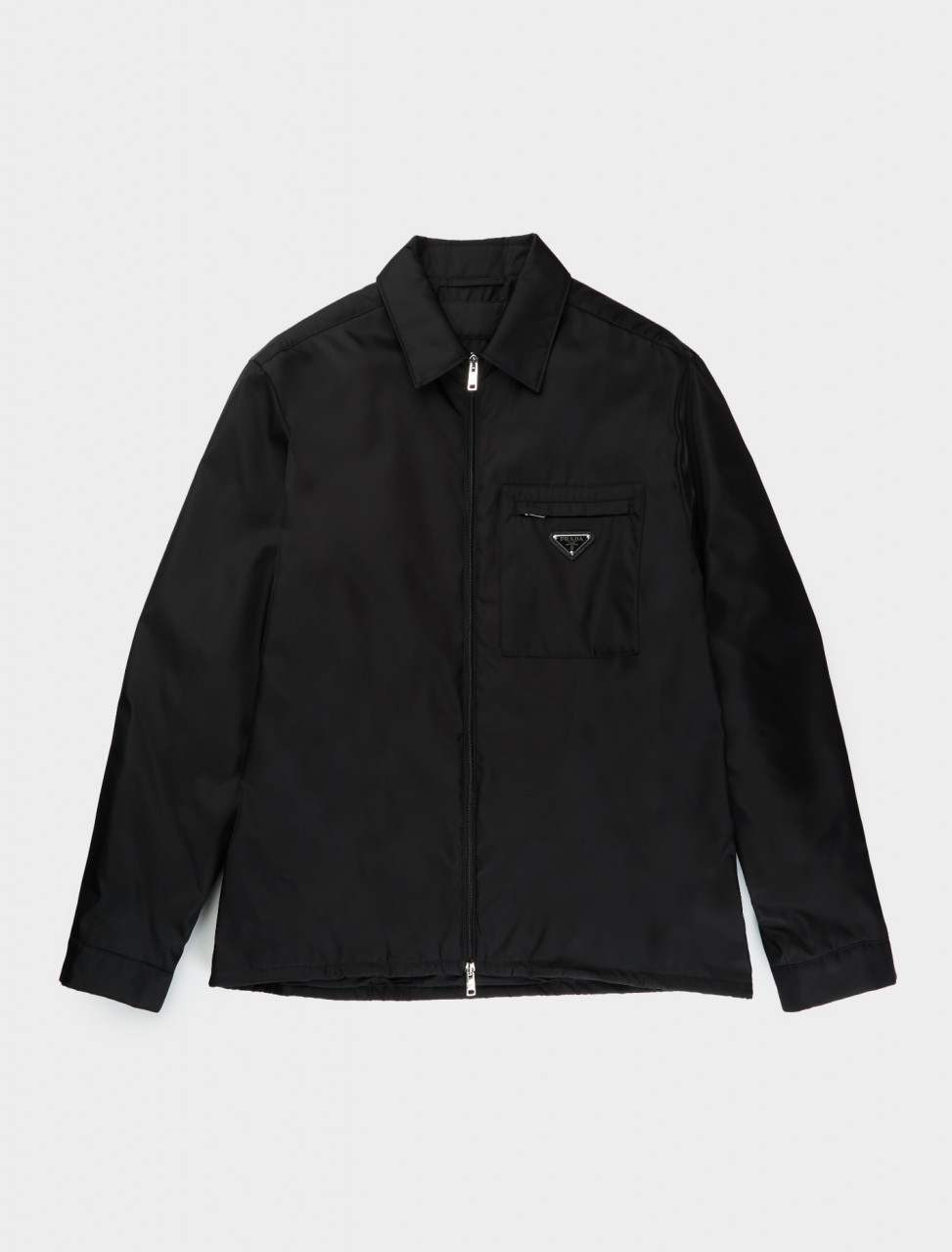SC510M-1WQ8-F0002 PRADA RENYLON ZIP UP JACKET IN BLACK