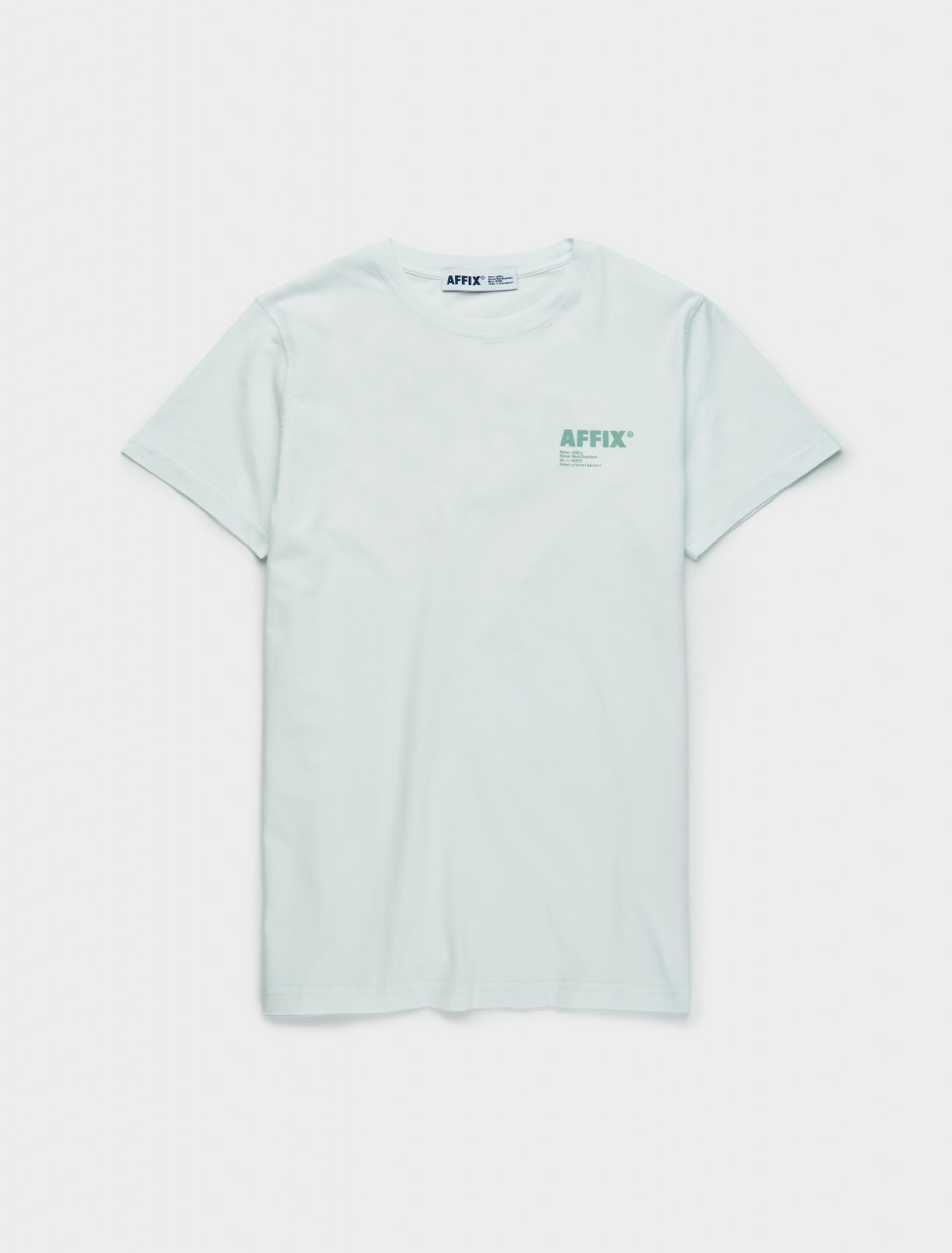 347-AW20TS08-LM AFFIX Standardised Logo T-Shirt in Light Mint