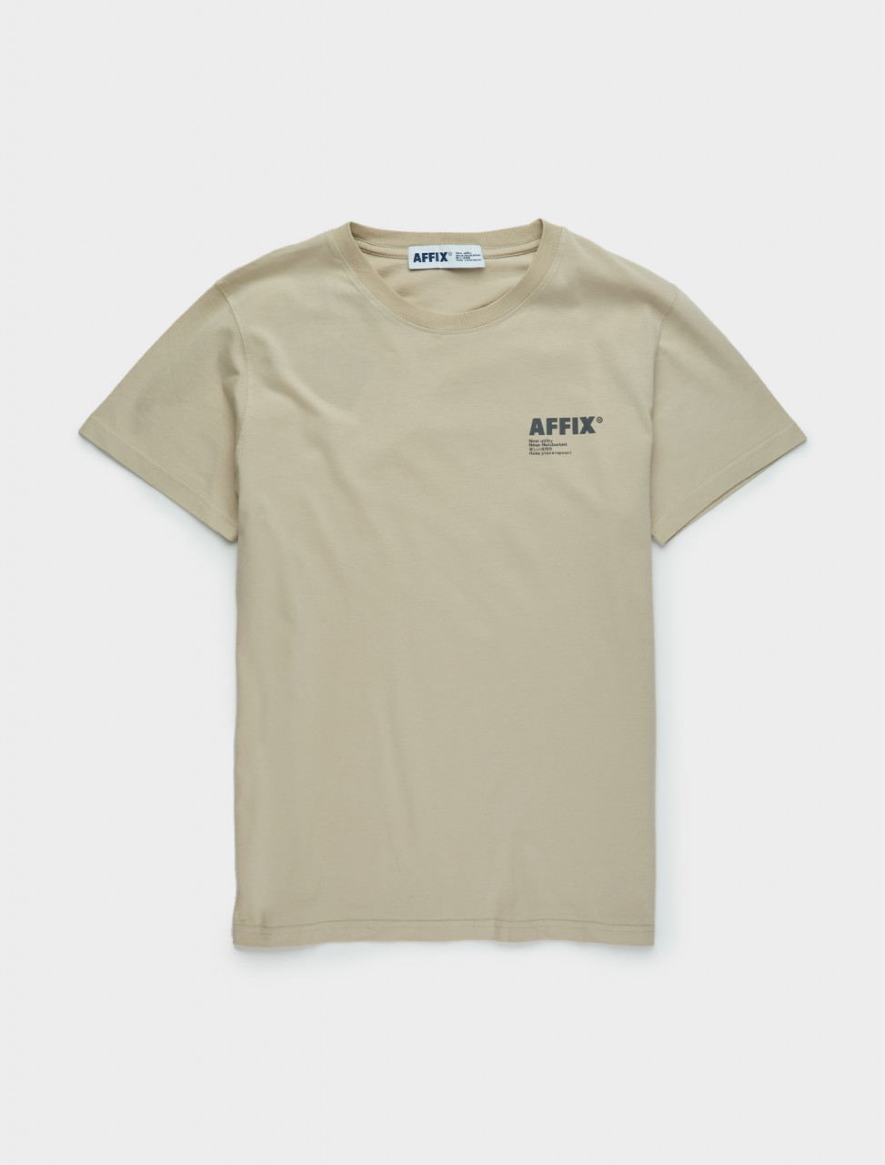 347-AW20TS08-T AFFIX Standardised Logo T-Shirt in Taupe