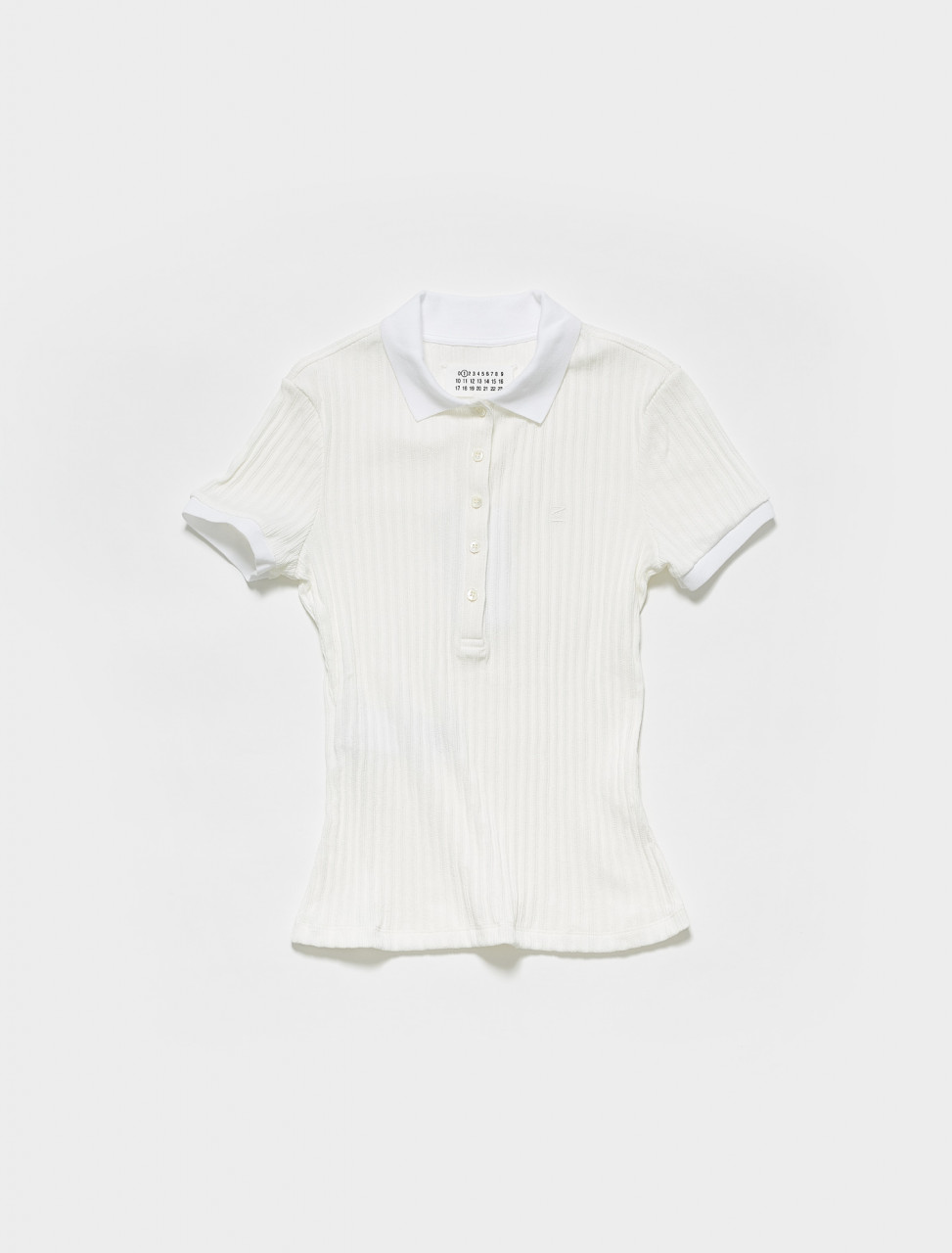 S51GL0024 MAISON MARGIELA JERSEY POLO IN WHITE