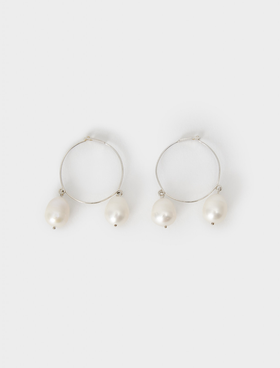 130-JSPR837369-WRS84017-041 Jil Sander Soft Earrings 04 in Silver
